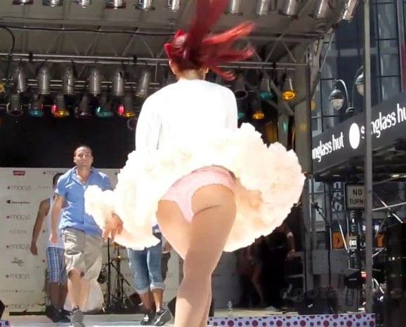 Ariana Grande ass shot