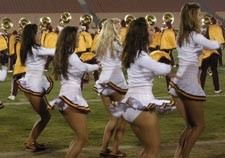 College cheerleaders white panty
