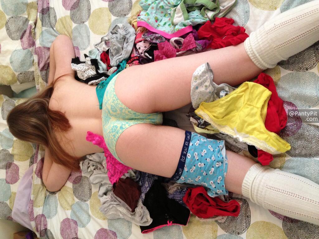 Panty loving woman in heaven