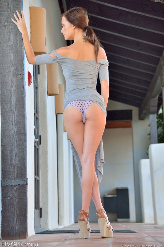 Great pic of her polka dot panties