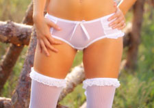 Sheer white panty and stockings