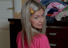 Blonde teen ass in pink panties