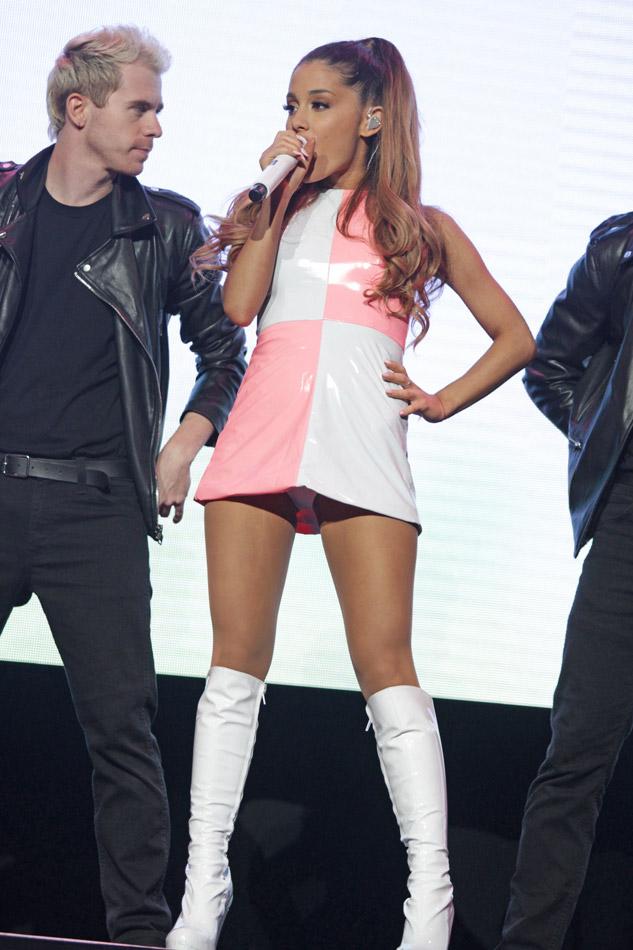 Ariana Grande upskirt on stage