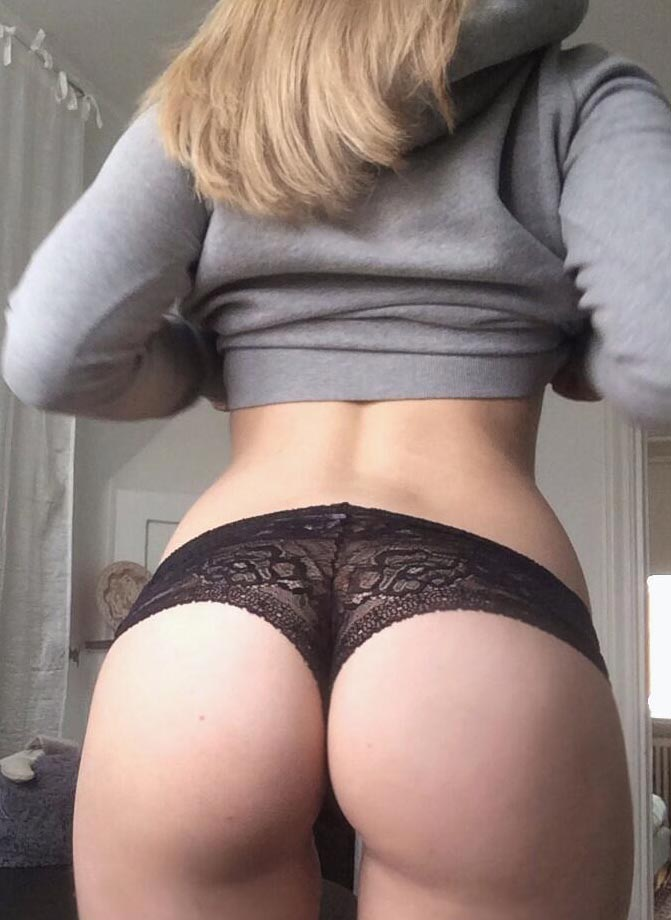 Cheeky black lace panties