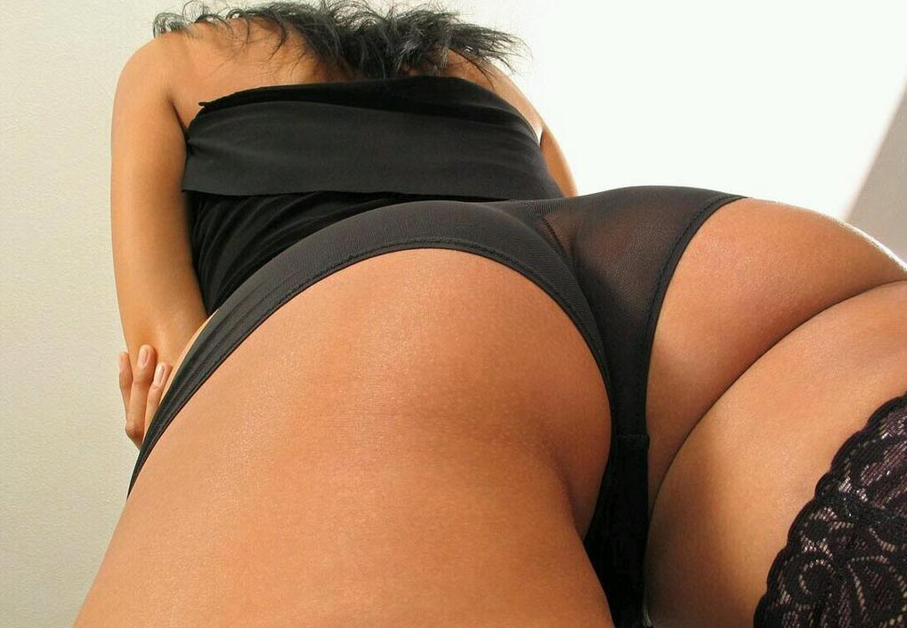 Closeup panty ass shot