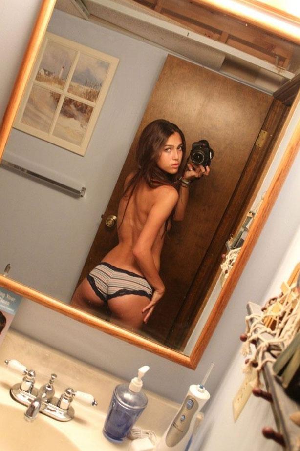 College girl panty ass selfie