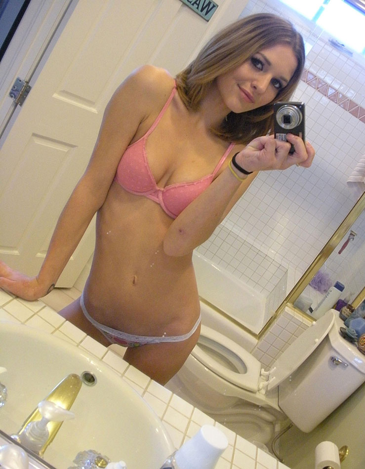 Cute selfies in bra and panties