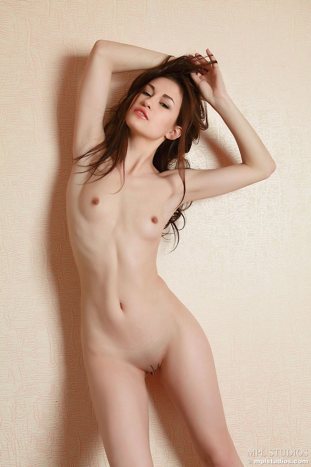 Skinny young body totally naked