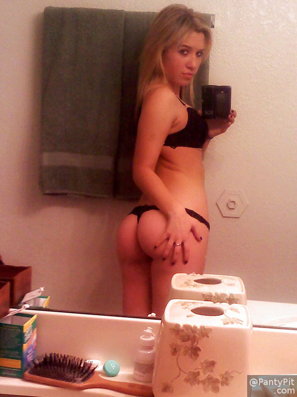 Cute ass blonde teen selfie