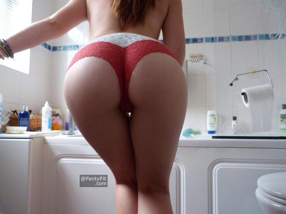 Perfect ass selfie in panties