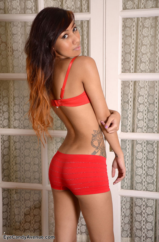 Cute little ass red underwear