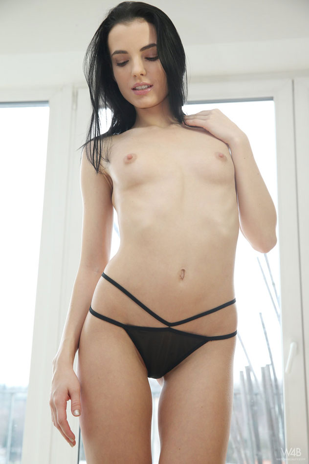 Topless girl small breasts