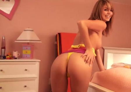 Super cute teen panty dance video