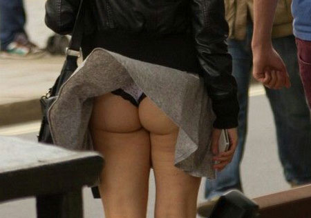 Windy upskirt oops panty peeks in public