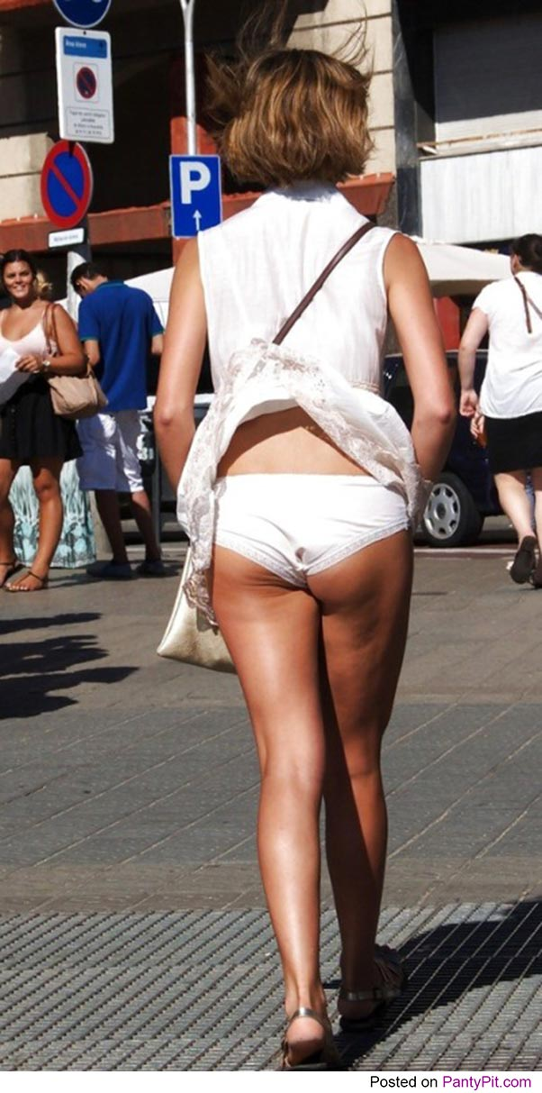 Accidental panties in public